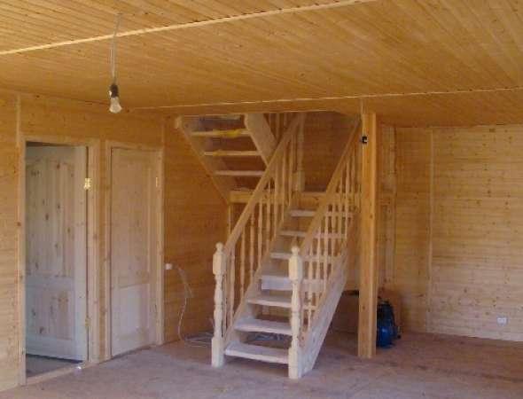 Деревянные лестницы на второй этаж своими руками фото